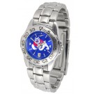 Fresno State Bulldogs Sport AnoChrome Ladies Watch with Steel Band