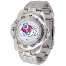 Fresno State Bulldogs Sport Steel Band Men's Watch