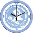 "Florida State Seminoles 12"" Blue Wall Clock"