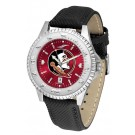 Florida State Seminoles Competitor AnoChrome Men's Watch with Nylon/Leather Band