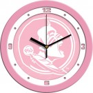 "Florida State Seminoles 12"" Pink Wall Clock"