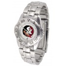 Florida State Seminoles Gameday Sport Ladies' Watch with a Metal Band