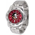 Florida State Seminoles Sport Steel Band Ano-Chrome Men's Watch