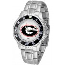 Georgia Bulldogs Competitor Watch with a Metal Band