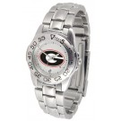 Georgia Bulldogs Gameday Sport Ladies' Watch with a Metal Band