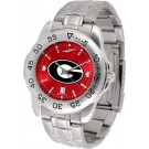 Georgia Bulldogs Sport Steel Band Ano-Chrome Men's Watch