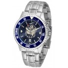 Georgetown Hoyas Competitor AnoChrome Men's Watch with Steel Band and Colored Bezel