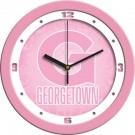 "Georgetown Hoyas 12"" Pink Wall Clock"
