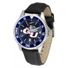 Gonzaga Bulldogs Competitor AnoChrome Men's Watch with Nylon/Leather Band and Colored Bezel