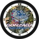 "Gonzaga Bulldogs 12"" Camo Wall Clock"