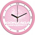 "Gonzaga Bulldogs 12"" Pink Wall Clock"
