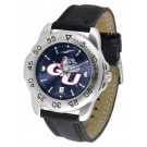 Gonzaga Bulldogs Sport AnoChrome Men's Watch with Leather Band