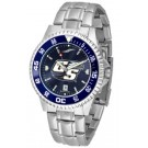 Georgia Southern Eagles Competitor AnoChrome Men's Watch with Steel Band and Colored Bezel