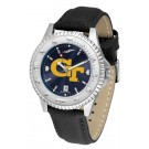 Georgia Tech Yellow Jackets Competitor AnoChrome Men's Watch with Nylon/Leather Band