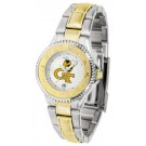 Georgia Tech Yellow Jackets Competitor Ladies Watch with Two-Tone Band