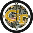 "Georgia Tech Yellow Jackets 12"" Camo Wall Clock"
