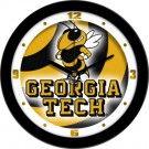 "Georgia Tech Yellow Jackets 12"" Dimension Wall Clock"