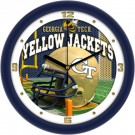 "Georgia Tech Yellow Jackets 12"" Helmet Wall Clock"