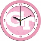 "Georgia Tech Yellow Jackets 12"" Pink Wall Clock"