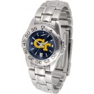 Georgia Tech Yellow Jackets Sport AnoChrome Ladies Watch with Steel Band