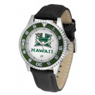 Hawaii Rainbow Warriors Competitor Men's Watch with Nylon / Leather Band