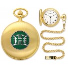 Hawaii Rainbow Warriors Gold Pocket Watch