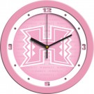 "Hawaii Rainbow Warriors 12"" Pink Wall Clock"