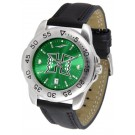 Hawaii Rainbow Warriors Sport AnoChrome Men's Watch with Leather Band