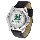 Hawaii Rainbow Warriors Men's Sport Watch with Leather Band