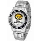 Iowa Hawkeyes Competitor Watch with a Metal Band