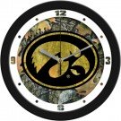 "Iowa Hawkeyes 12"" Camo Wall Clock"