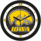 "Iowa Hawkeyes 12"" Dimension Wall Clock with Hawkeyes Background"