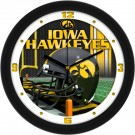 "Iowa Hawkeyes 12"" Helmet Wall Clock"