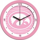 "Iowa Hawkeyes 12"" Pink Wall Clock"