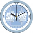 "Illinois Fighting Illini 12"" Blue Wall Clock"