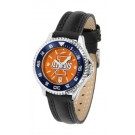 Illinois Fighting Illini Competitor Ladies AnoChrome Watch with Leather Band and Colored Bezel