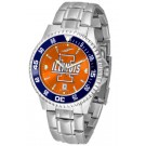 Illinois Fighting Illini Competitor AnoChrome Men's Watch with Steel Band and Colored Bezel