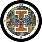 "Illinois Fighting Illini 12"" Camo Wall Clock"