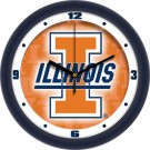 "Illinois Fighting Illini 12"" Dimension Wall Clock"
