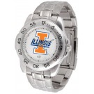 Illinois Fighting Illini Sport Steel Band Men's Watch