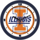 "Illinois Fighting Illini Traditional 12"" Wall Clock"