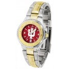 Indiana Hoosiers Competitor AnoChrome Ladies Watch with Two-Tone Band by