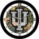 """Indiana Hoosiers 12"""" Camo Wall Clock"""