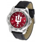 Indiana Hoosiers Sport AnoChrome Men's Watch with Leather Band