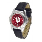 Indiana Hoosiers Sport AnoChrome Ladies Watch with Leather Band