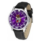 James Madison Dukes Competitor AnoChrome Men's Watch with Nylon/Leather Band and Colored Bezel