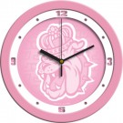 "James Madison Dukes 12"" Pink Wall Clock"