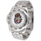 James Madison Dukes Sport Steel Band Men's Watch