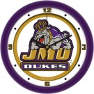 "James Madison Dukes Traditional 12"" Wall Clock"