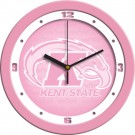 "Kent State Golden Flashes 12"" Pink Wall Clock"